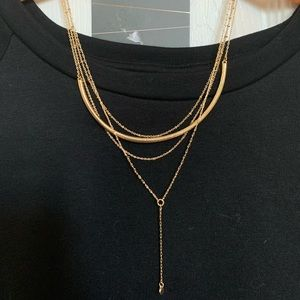 Baublebar gold layered necklace NWT
